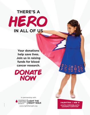 Valentina, age 8, acute lymphoblastic leukemia survivor.