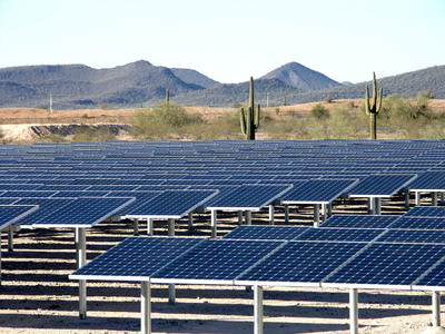 This new 7.5-megawatt SunPower solar power system is expected to save the City of Phoenix $4.2 million over the next 20 years.  (PRNewsFoto/SunPower Corp.)