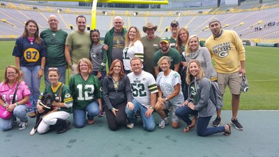 A group of veterans joined Wounded Warrior Project for a guided tour of Lambeau Field, home of the Green Bay Packers.