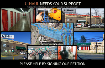 Keep U-Haul in Rockville: Petitioning the Montgomery County Department of Transportation.  (PRNewsFoto/U-Haul)