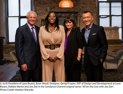 Lane Bryant(R) will be featured in the Friday, December 2 episode of critically acclaimed Sundance Channel series, All On The Line With Joe Zee. In this episode, Lane Bryant Group President Brian Woolf and Senior Vice President of Product Design and Development Debbie Martin will determine whether or not to offer full figured fashion designer Qristyl Frazier a once-in-a-lifetime opportunity to create and sell an exclusive clothing line for the nation's leading women's curvy apparel retailer. There will be an NYC viewing party on Thursday, December 1 from 6 to 9 p.m. at the Lane Bryant Fulton Street store.  (PRNewsFoto/Lane Bryant)