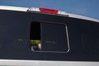 Magna's PureView (TM) seamless sliding window. The first-to-market design will debut on the 2015 Ford F-150. (PRNewsFoto/Magna International Inc.)