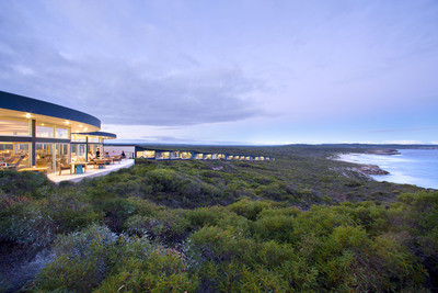 Crystal Cruises' February 7 Sydney to Singapore voyage will offer guests two 4-day land trip options, including a romantic stay at the picturesque Southern Ocean Lodge on Kangaroo Island over Valentine's Day.  (PRNewsFoto/Crystal Cruises)