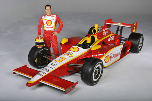 Three-time Indy 500 champion Helio Castroneves and the No. 3 Shell V-Power(R)-Pennzoil Ultra(TM) Dallara/Honda.  ...