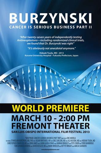 Film Poster for Burzynski, the Movie; Burzynski: Cancer is Serious Business, Part II.  (PRNewsFoto/Director Eric Merola)