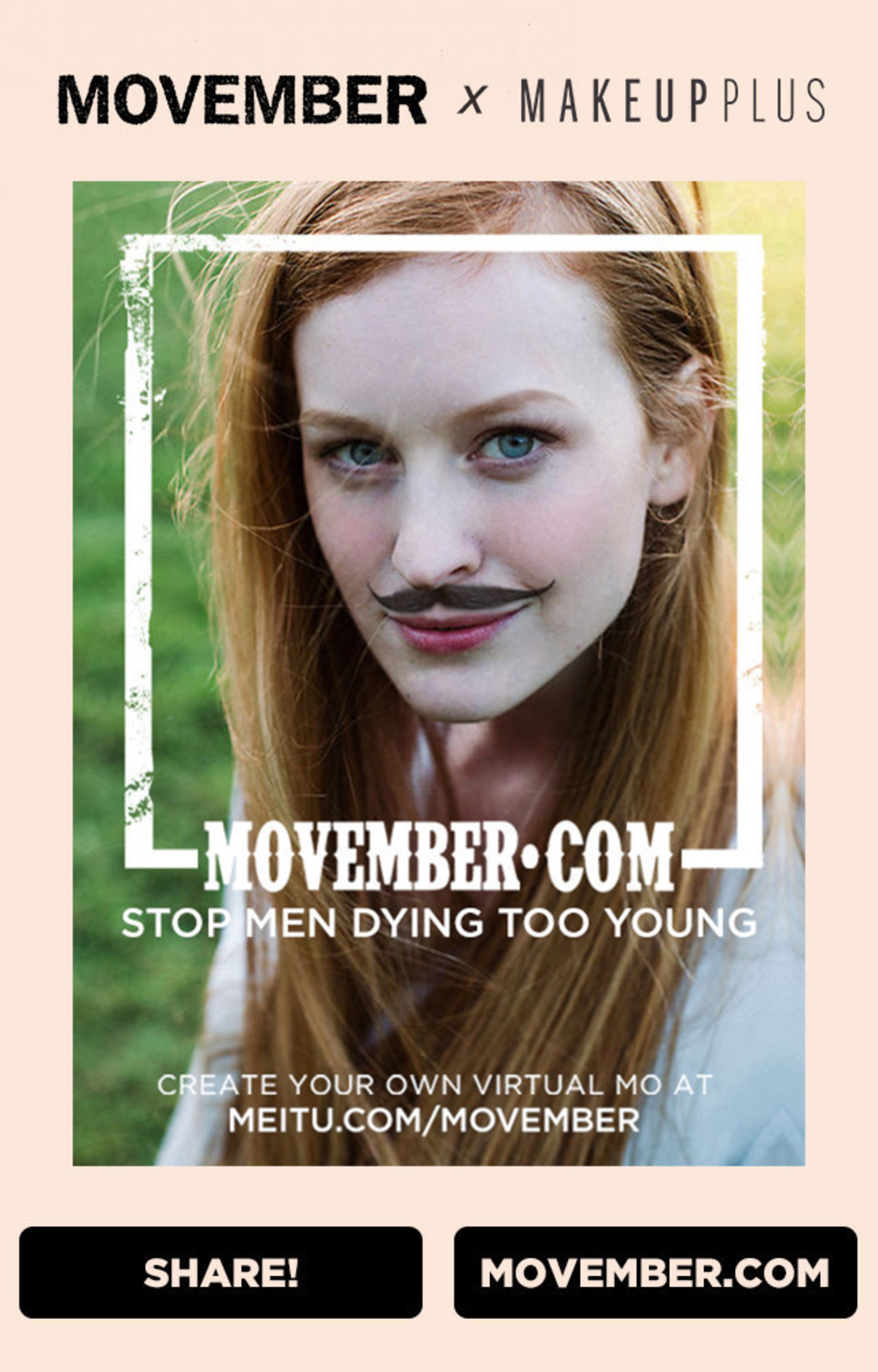 Ready-To-Wear Movember Moustache Look to Launch in MakeupPlus App for Month of November