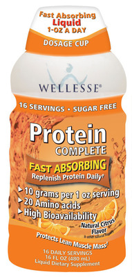 Wellesse Premium Liquid Supplements Launches New Protein Complete With 10 Grams per 1 Ounce Serving.  (PRNewsFoto/Wellesse)