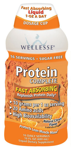 Wellesse Premium Liquid Supplements Launches New Protein Complete With 10 Grams per 1 Ounce Serving.  ...