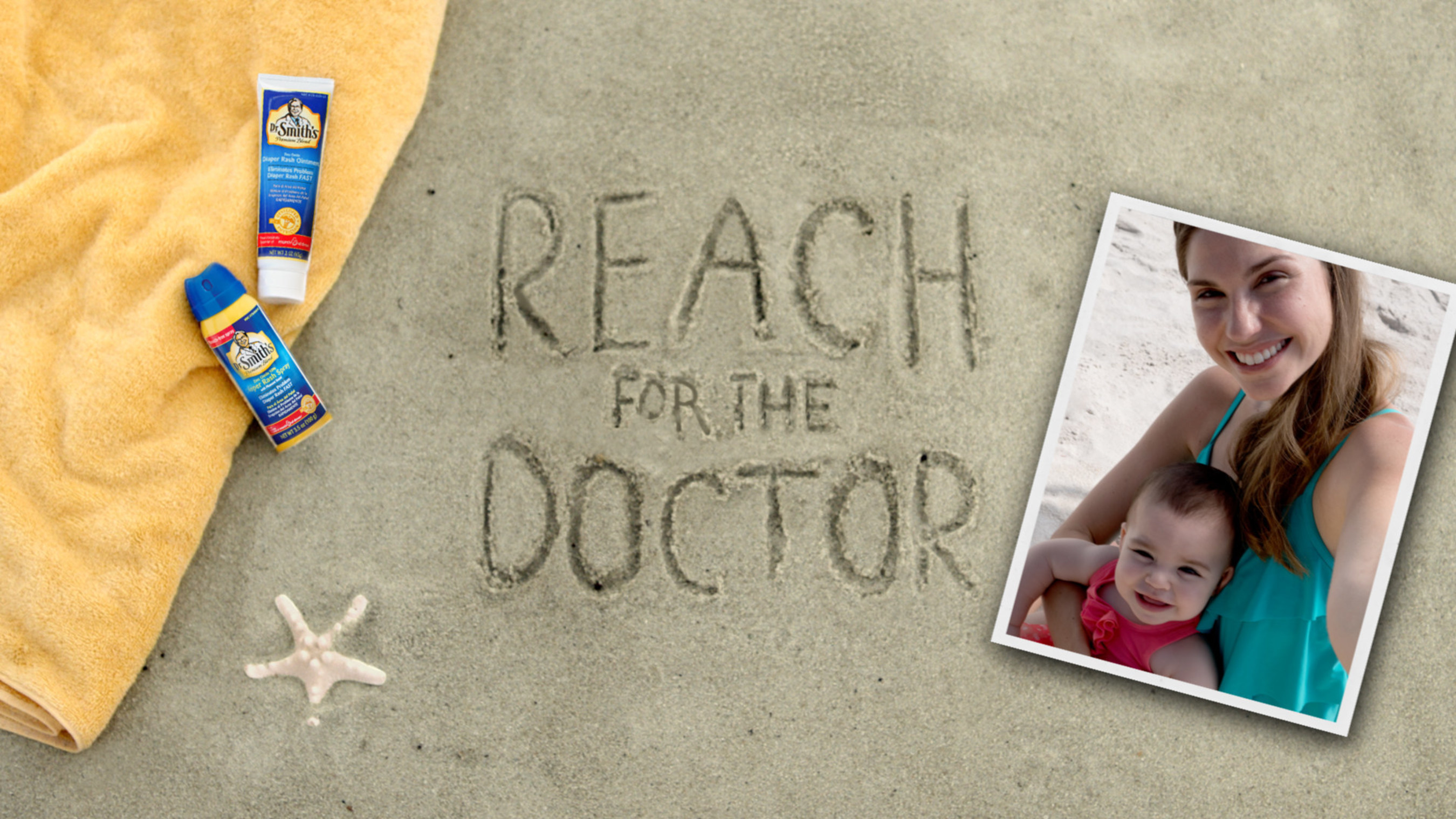 This summer - be prepared for diaper rash season and Reach for the Doctor.