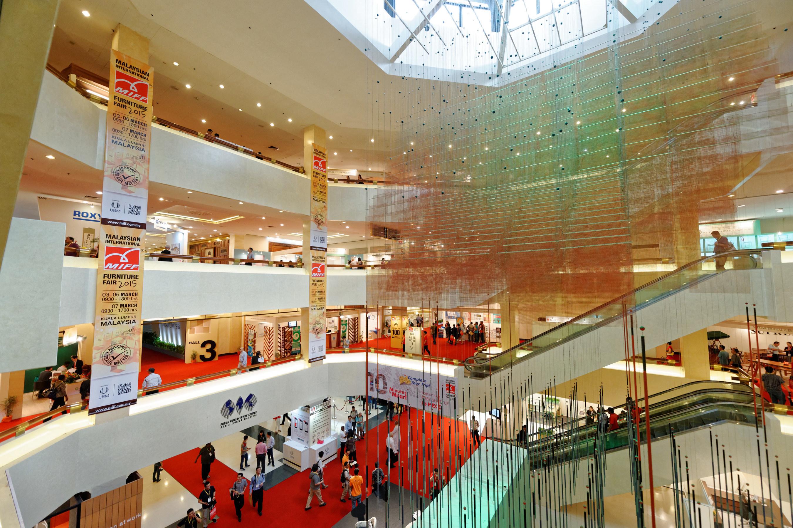 Southeast Asia No.1 International Furniture Trade Fair MIFF's hall view
