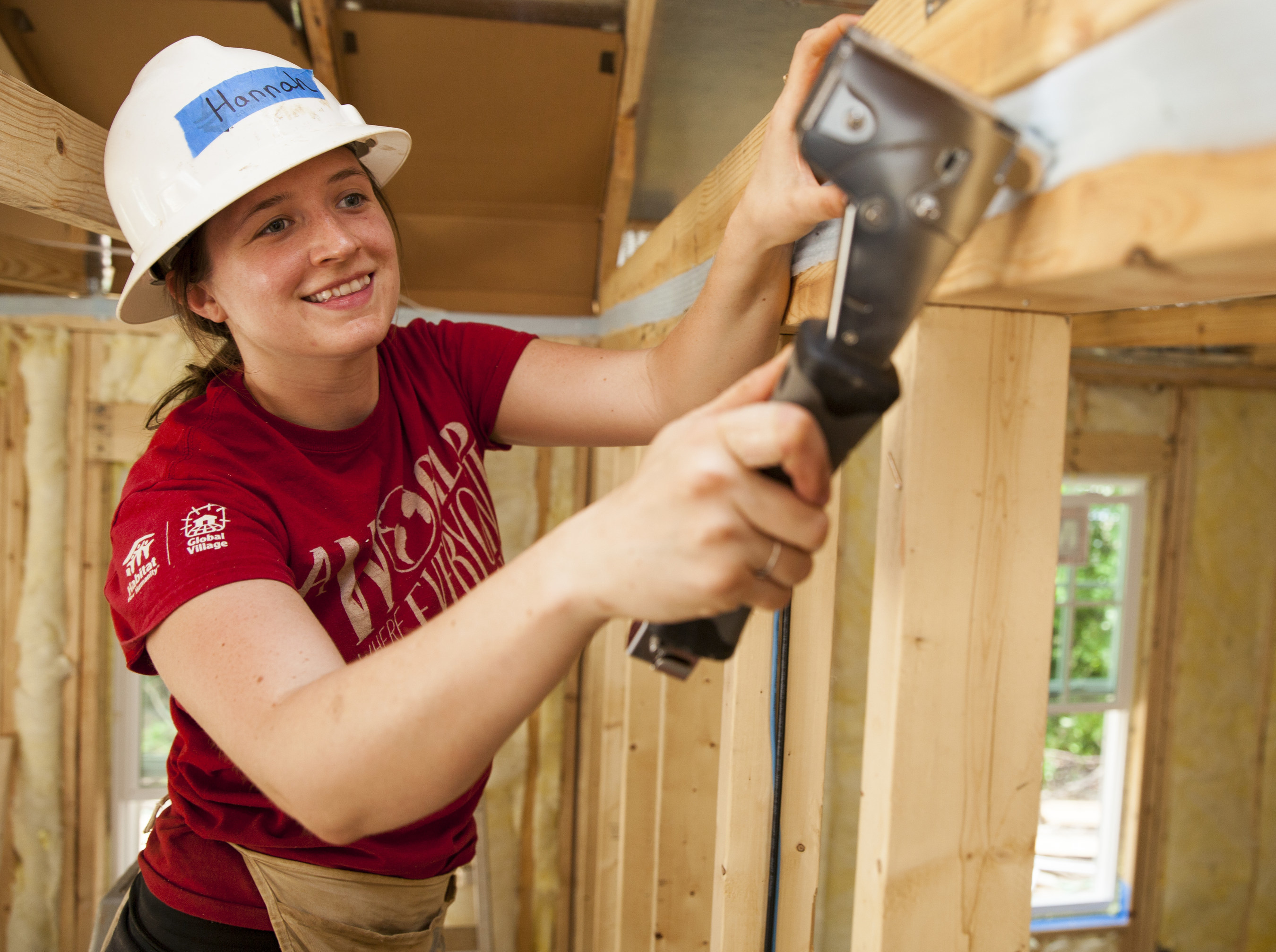 More than 120 AmeriCorps members from across the United States gathered in Raleigh last year to participate in Habitat's annual AmeriCorps Build-a-Thon.