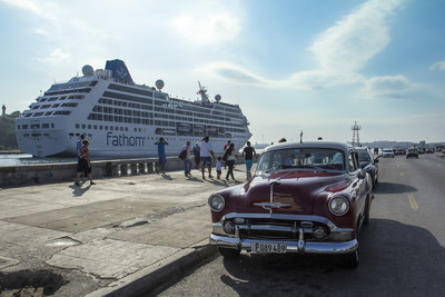 During each sailing, Fathom will visit Havana, Cienfuegos and Santiago de Cuba, three ports of call for which Carnival Corporation has obtained berthing approval
