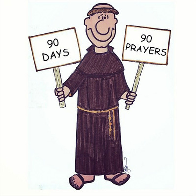 """Starting today, The Franciscan Friars of Holy Name Province, with the help of Brother Finias, the humorous illustrated Franciscan Friar character, will be leading followers through """"90 Prayers for 90 Days"""" via Instagram for daily insta-inspriation! Follow us at @TheFranciscans. (PRNewsFoto/Holy Name Province) (PRNewsFoto/HOLY NAME PROVINCE)"""