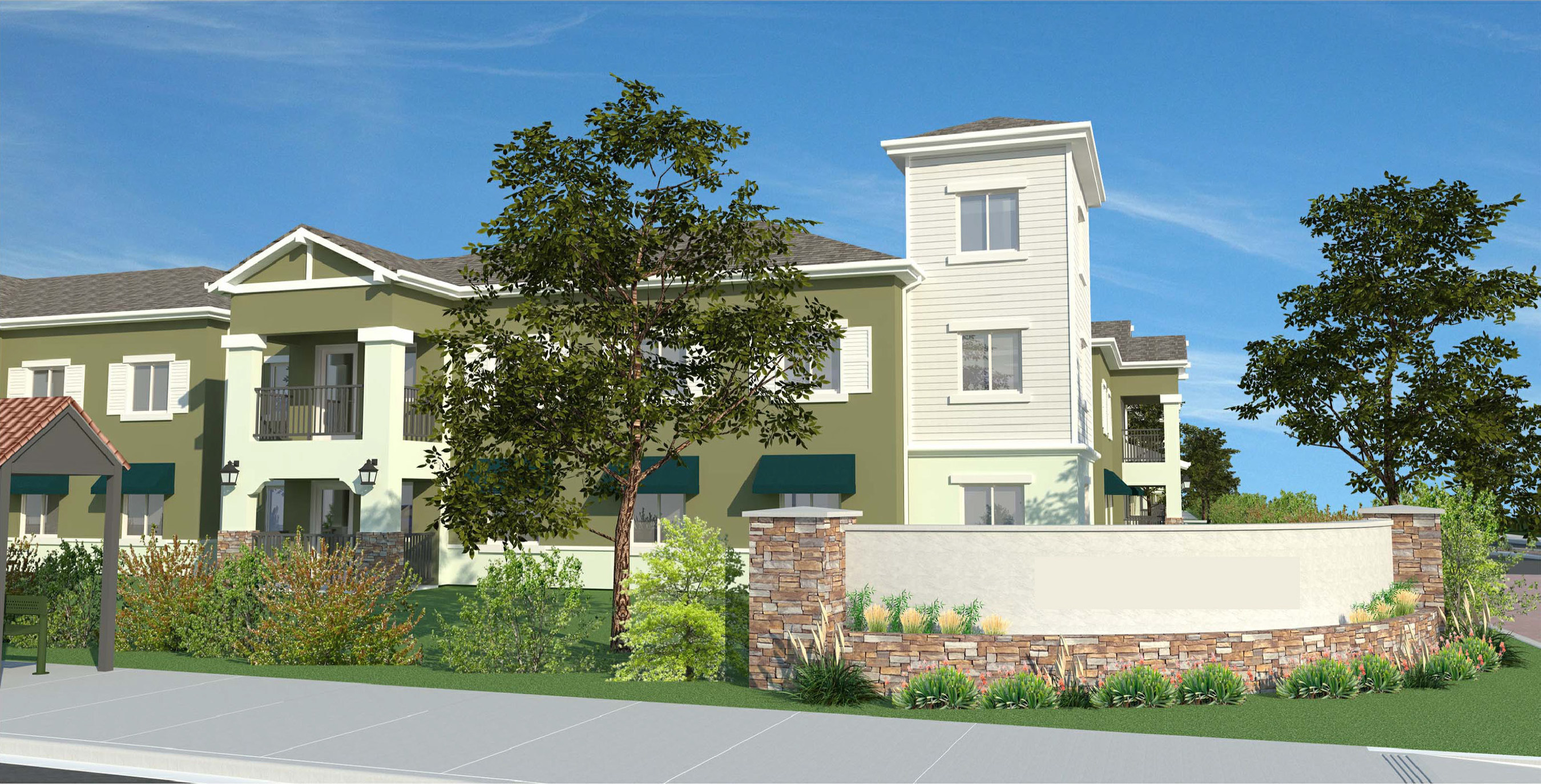 Atascadero Apartments is the new construction of 60 family units housed in one 2-story and one 3-story elevator served residential buildings. The Project is situated on approximately 3.5 acres on a residential street in the City of Atascadero, San Luis Obispo County, California.