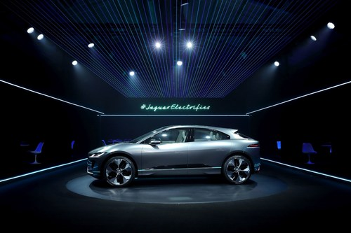 Jaguar I-PACE Concept, Jaguar's first fully electric car is unveiled in LA at pioneering virtual reality reveal (PRNewsFoto/Jaguar Land Rover)