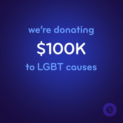 We're donating $100k to LGBT causes. Make your vote on Facebook for one of three worthy causes.  (PRNewsFoto/Esurance)
