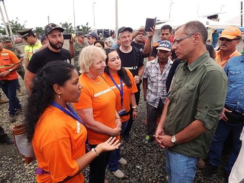 The Emmanuel TV Team meet with the Vice President of Ecuador, Jorge Glas Espinel. (PRNewsFoto/Emmanuel TV)