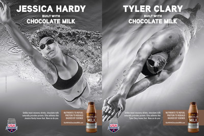 USA Swimming Athletes Tyler Clary and Jessica Hardy Dive Into New National BUILT WITH CHOCOLATE MILK(TM) Campaign