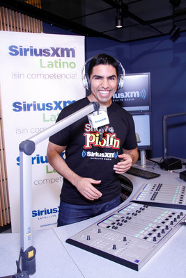 "SiriusXM's Eddie ""Piolin"" Sotelo at the SiriusXM studios in Los Angeles, California.  (PRNewsFoto/Sirius XM Radio)"