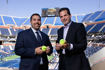Lew Sherr, Chief Revenue Officer of the USTA, and Jeffery Cohen, President of Citizen Watch Company of America extend sponsorship through 2020.