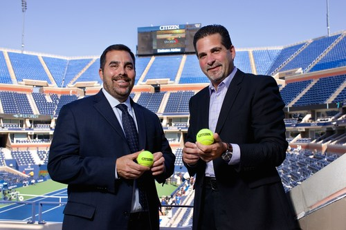 Lew Sherr, Chief Revenue Officer of the USTA, and Jeffery Cohen, President of Citizen Watch Company of America ...