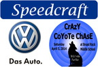 A longtime supporter of community events, Speedcraft VW in Wakefield, R.I., has sponsored the upcoming Crazy Coyote Chase to benefit Broad Rock Middle School. (PRNewsFoto/Speedcraft VW)