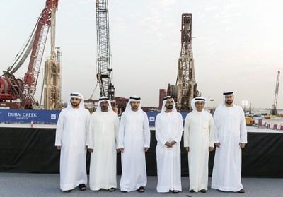 su alteza el jeque mohammed presenta ula torre de dubi creek harbouru el futuro cono que ser la ms alta del mundo en