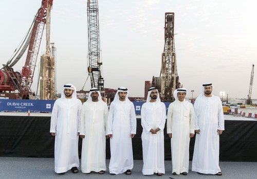 HH Sheikh Mohammed breaks ground on future icon 'The Tower at Dubai Creek Harbour (PRNewsFoto/Emaar Properties)