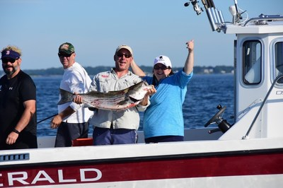 Veterans and family members joined Maddie's Anglers and the Boston Yacht Club for the fifth annual Operation Neptune fishing event.