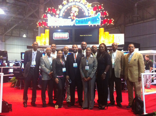 Bahamas delegation explores gaming modernization at Global Gaming Expo 2012.  (PRNewsFoto/Bahamas Ministry of ...