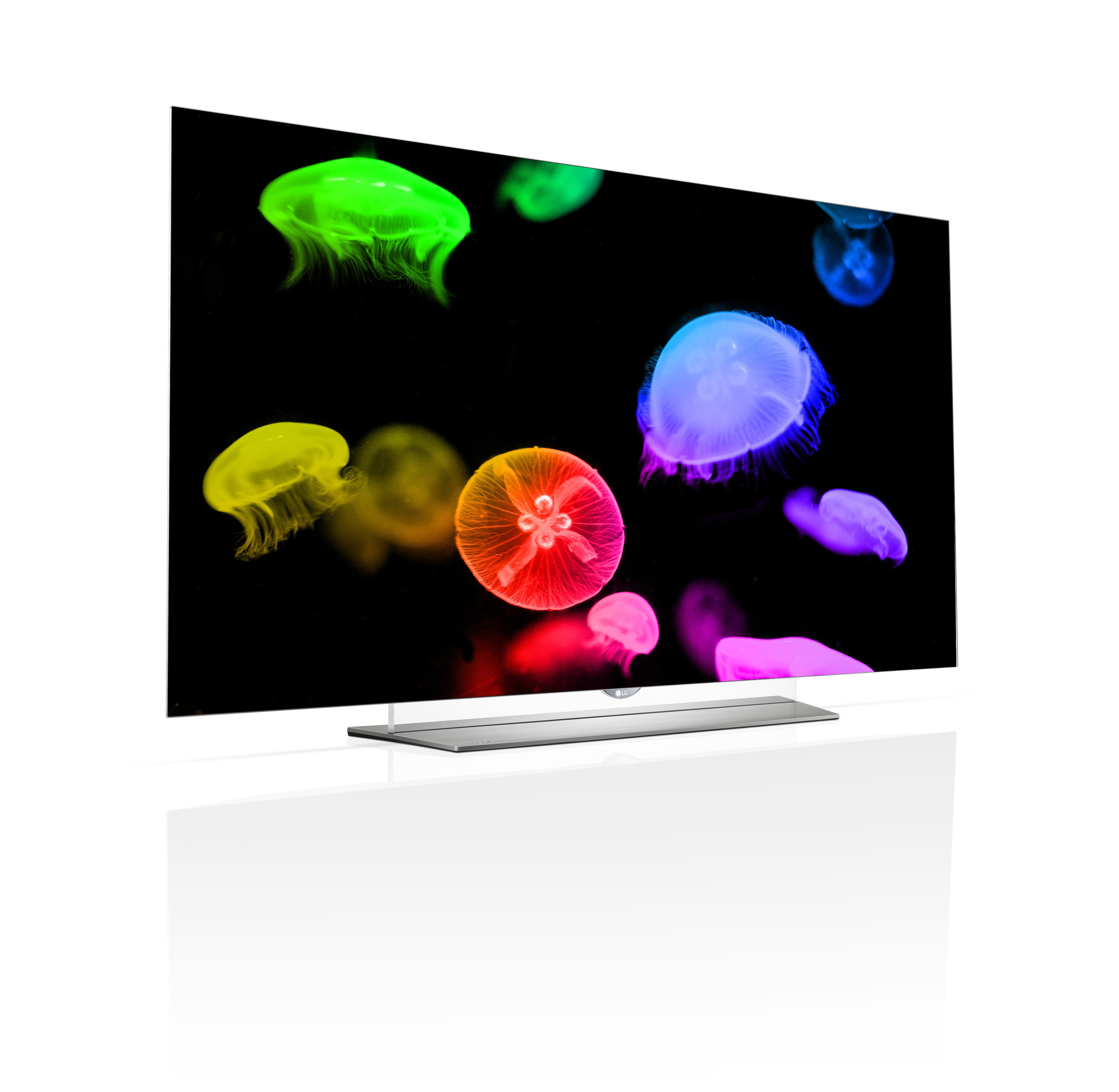 The EF9500 (pictured) represents the world's first flat 4K resolution OLED TV display, and will be available next month in 55- and 65-inch class sizes, for $5,499 and $6,999, respectively. With its retail launch, LG now offers OLED TVs in 55-, 65-, and 77-inch class sizes, both curved and flat configurations, and 1080p and 4K resolutions.