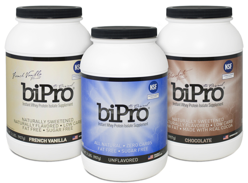 BiPro Whey Protein Isolate.