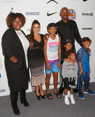 Ray Allen (Left) and family attend Rookie USA Runway Show at The Dock, Skylight at Moynihan Station on September 8, 2016 in New York City. (Photo by Thos Robinson/Getty Images for Nike/Levi's/Rookie USA show)