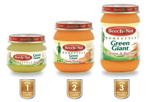 Beech-Nut Announces New Baby Food Line Featuring General Mills Green Giant Vegetable Brand