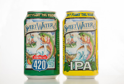 SweetWater Brewing Company will debut two of its most popular, award-winning beers in 12- and 16-ounce aluminum cans from Ball Corporation.