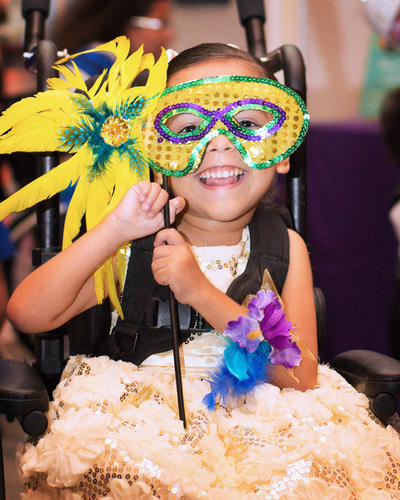 Pediatric patients at St. Joseph's Children's Hospital in Tampa enjoy a masquerade-themed prom held in ...