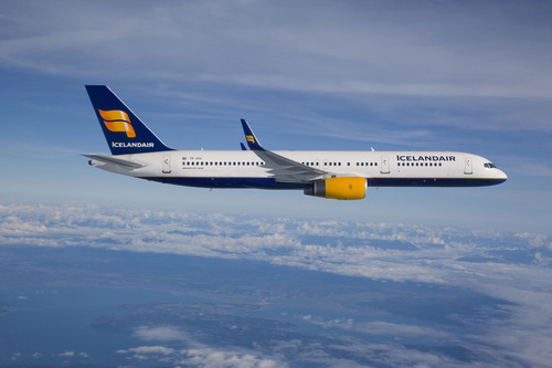 ICELANDAIR TAKES OFF FROM DENVER.  (PRNewsFoto/Icelandair, Chad Slattery)