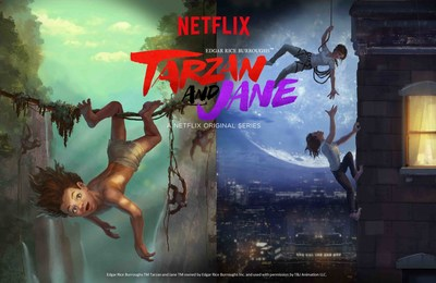 Netflix original Edgar Rice Burroughs(TM) Tarzan and Jane (TM) follows the adventures of Tarzan and Jane from the African jungle to an urban jungle, bringing a modern take to a classic tale.
