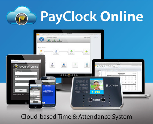 Lathem's PayClock Online time and attendance system helps business owners save time and money on payroll management.   (PRNewsFoto/Lathem)