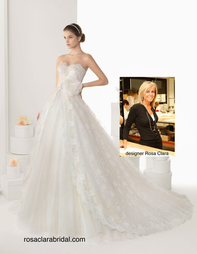 "Rosa Clara Previews Her 2014 Collection, and earns the title ""Best Bridal Designer of the Year"" at ..."