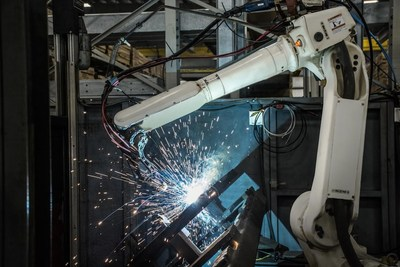 Robotic welding technology currently in use at SafeRack in Andrews, S.C.