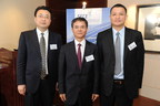 Shunfeng International Clean Energy Limited Media Briefing, from left to right: Ting Lei, SFCE Executive Director/President of Shunfeng Photovoltaic Investment (China), Yi Zhang, SFCE Chairman, Eric Luo, SFCE Executive Director/CEO