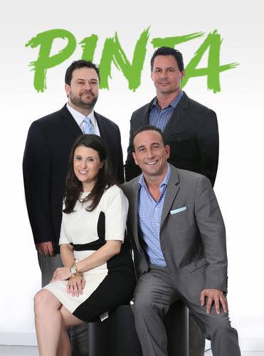 Pinta Agency Leadership Team (From left to right) Joe Gutierrez, Managing Director New York and Head of Strategic Planning; Lauren Cortinas, Managing Director, Communications; Mike Valdes-Fauli, President and CEO; Alejandro Barreras, Creative Director. (PRNewsFoto/Pinta) (PRNewsFoto/PINTA)