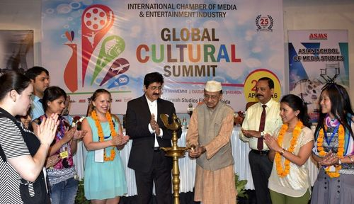 Sandeep Marwah with Dr. Bhishma Narain Singh, Former Governor of Assam & Tamil Nadu and delegates from other ...