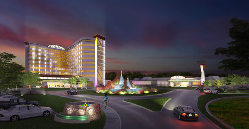 Entrance view of planned Mohegan Sun Massachusetts casino project in Palmer, MA.  (PRNewsFoto/Mohegan Sun)