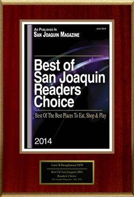 "Gary R Baughman DDS Selected For ""Best Of San Joaquin 2014 Readers Choice"" (PRNewsFoto/American Registry)"