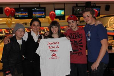 Jordan's Charity Bowl-A-Thon.  (PRNewsFoto/Jordan Van Vranken)