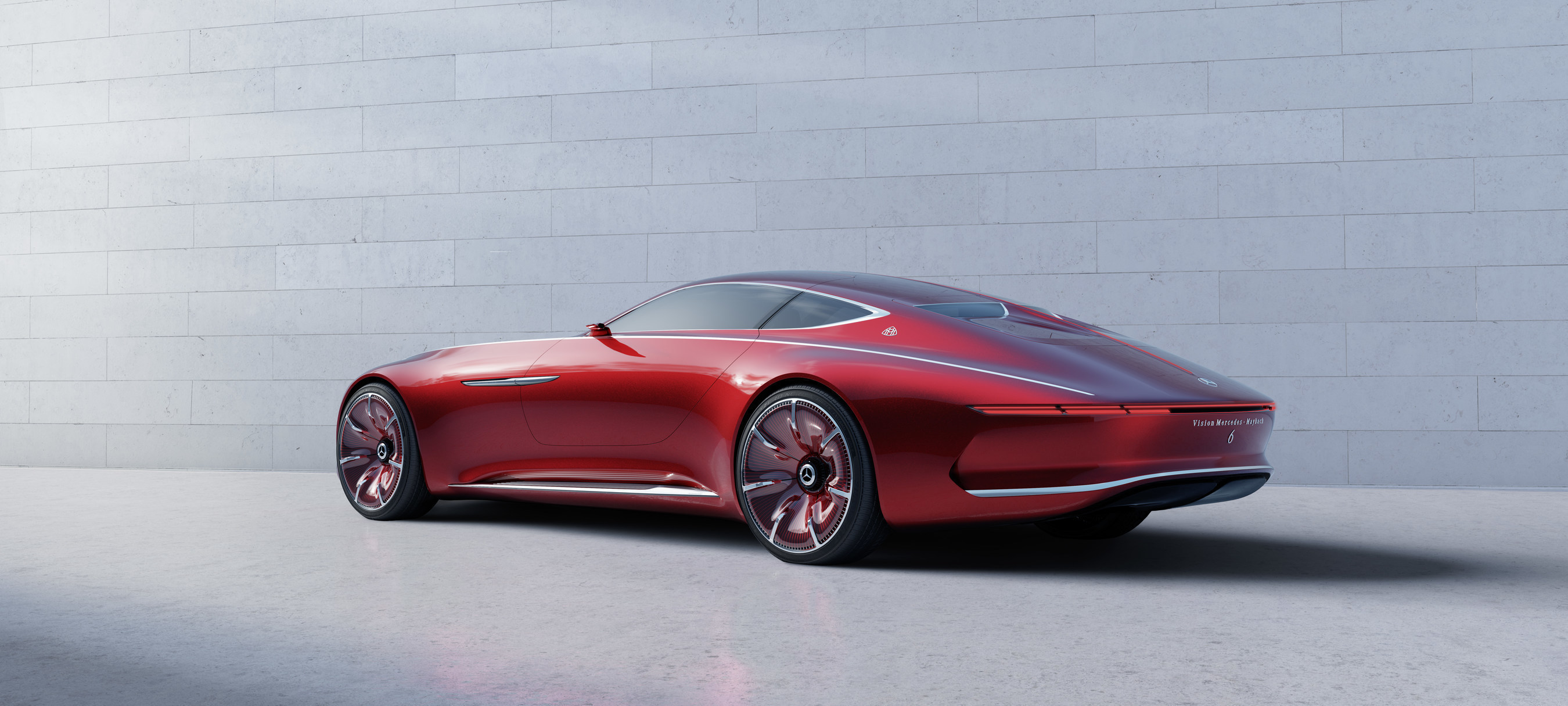 The Vision Mercedes-Maybach 6 made its world debut today in Pebble Beach, CA