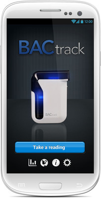 BACtrack Mobile on Android device. (PRNewsFoto/BACtrack) (PRNewsFoto/BACTRACK)