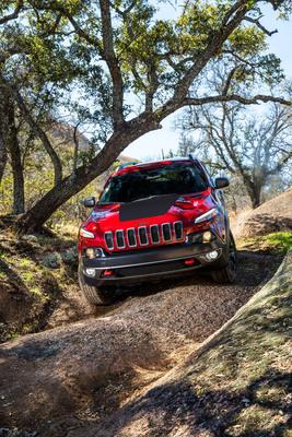 All-new 2014 Jeep Cherokee Trailhawk model.  (PRNewsFoto/Chrysler Group LLC)